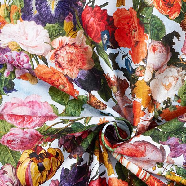 Jersey coton Bouquet de fleurs sauvages | by Poppy – bleu clair