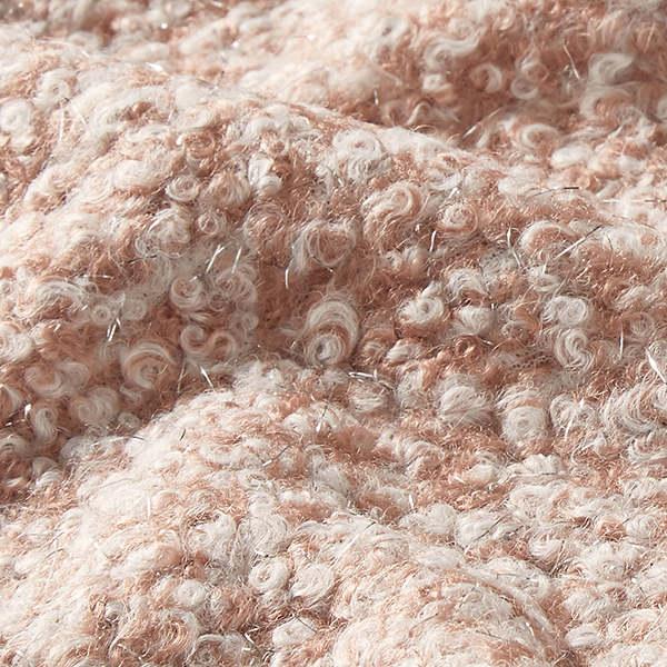 Maille Bouclé boucles scintillantes – rose