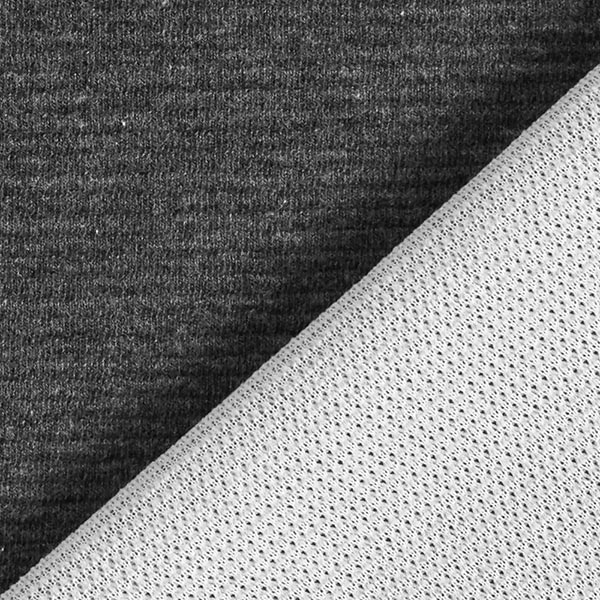 Jersey cloqué côte transversale chiné – gris schiste