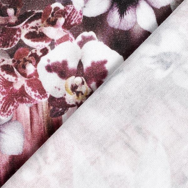 Jersey viscose liliacées – rouge bordeaux