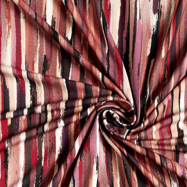 Jersey viscose coups de pinceau – baies