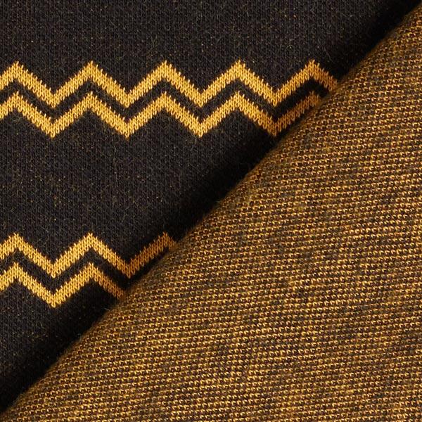 Jacquard maille rayures zigzag – noir