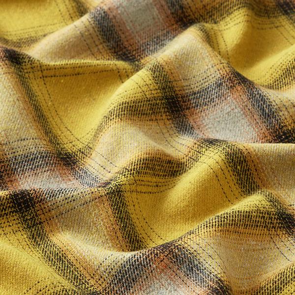 Tissu pour chemise Carreaux écossais – jaune soleil/noir