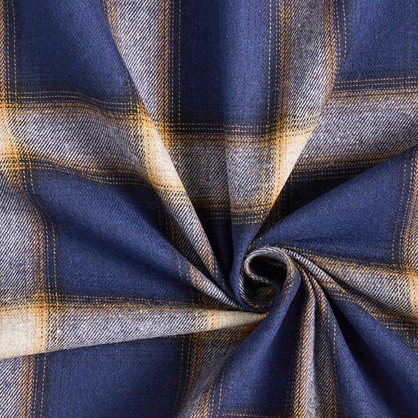Tissu pour chemise Carreaux écossais – bleu marine/terre cuite