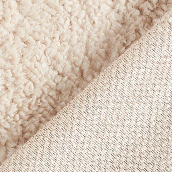 Fourrure synthétique Tissu peluche – beige clair