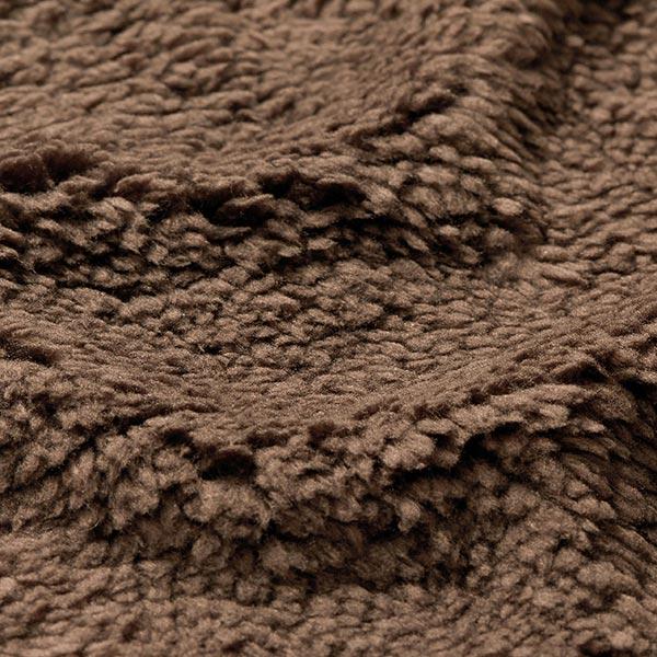 Fourrure synthétique Tissu peluche – chocolat