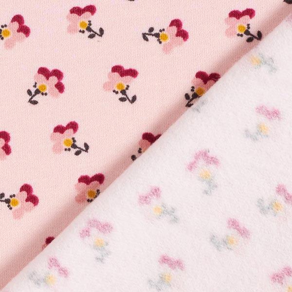 Soft sweat fleurs GOTS – rose