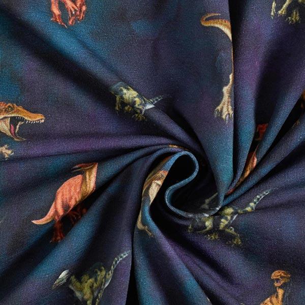 Jersey de coton Jurassic World T- Rex – bleu marine