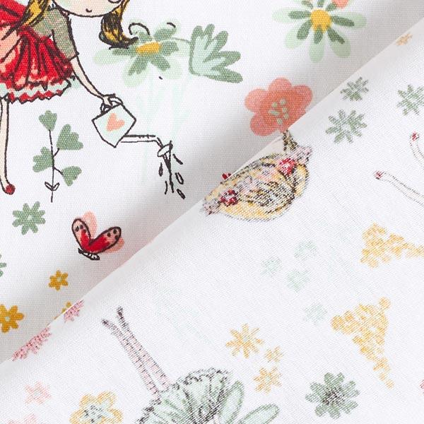 Popeline coton Fée de jardin | by Poppy – blanc