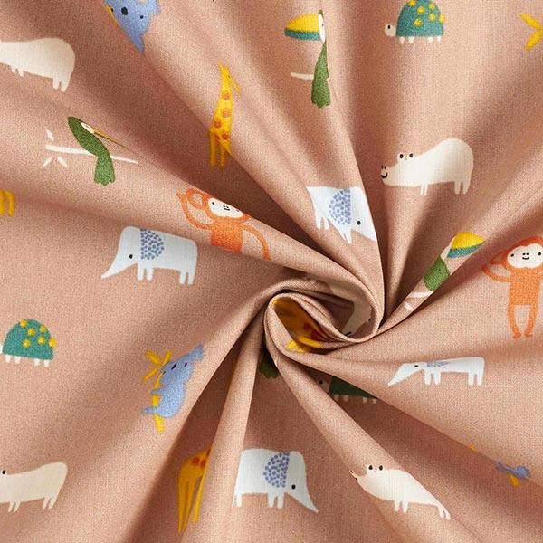 Popeline coton Animaux de safari – vase