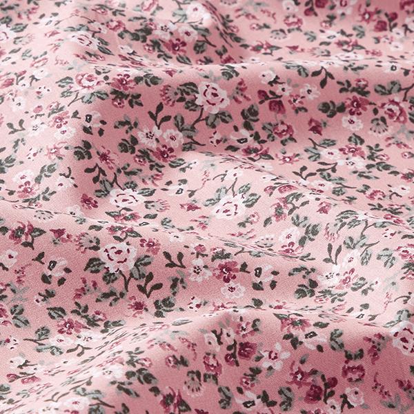 Tissu en coton Popeline Petites roses – vieux rose