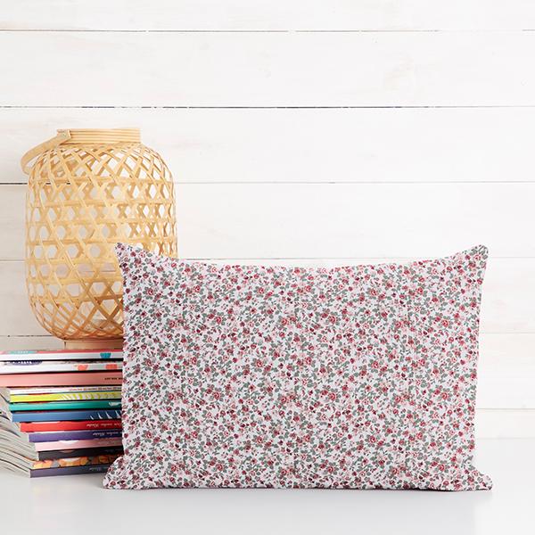 Tissu en coton Popeline Petites fleurs – blanc