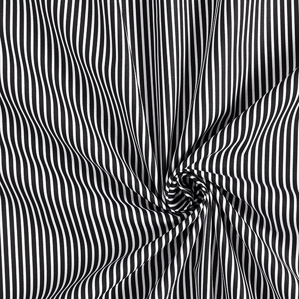 Baumwollpopeline Streifen – schwarz/weiss