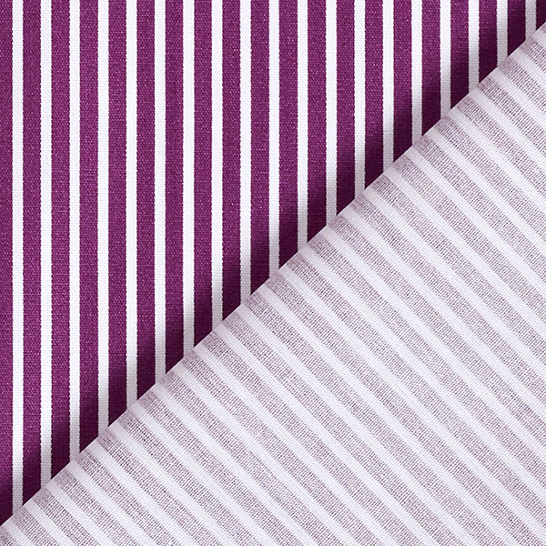 Popeline coton Rayures – lilas rouge/blanc