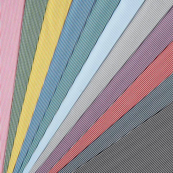 Popeline coton Rayures – gris/blanc