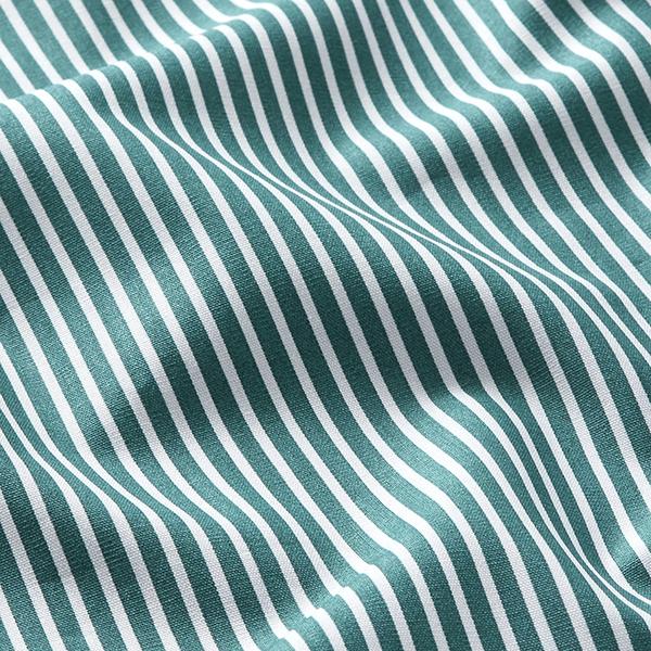 Baumwollpopeline Streifen – petrol/weiss