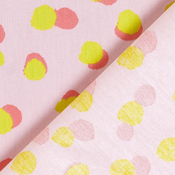 Baumwollstoff Popeline Punkte – rosa