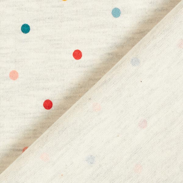 Jersey coton Petits points colorés Chiné – crème