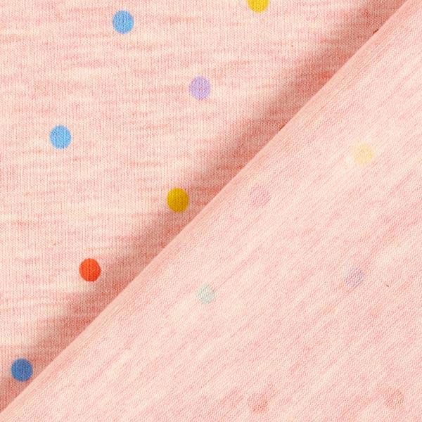 Jersey coton Petits points colorés Chiné – rose