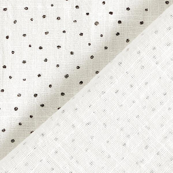 Tissu crêpe Coton Petits points prélavés Slub – blanc