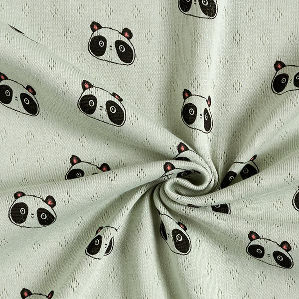 Jersey maille fine Motif à trous Pandas | by Poppy – vert pastel