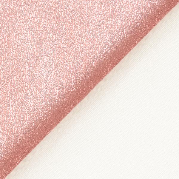 Kunstleder Metallik-Glanz – rosa