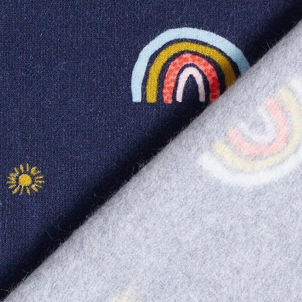 Sweat douillet GOTS Arc-en-ciel – bleu marine/bleu clair