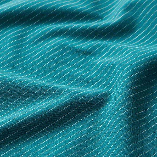 Jersey coton Rayures horizontales fines – pétrole