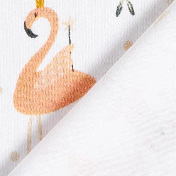 Jersey coton GOTS Impression numérique Fête bébé animal – blanc/sable