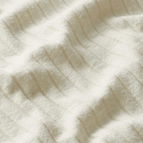 Recycelter Rippenstrick uni – wollweiss