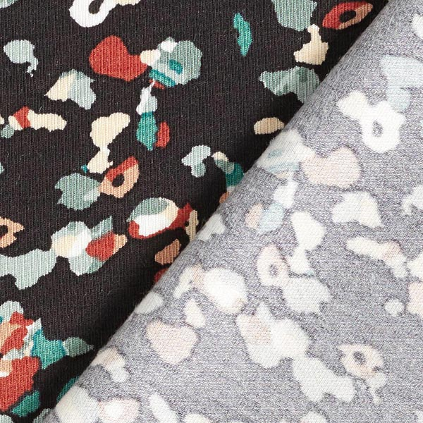 Jersey modal Tencel confetti – navy