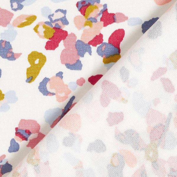 Jersey modal Tencel confetti – blanc