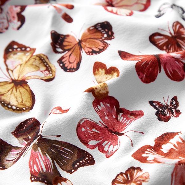 French Terry Sweat d'été GOTS Papillons – blanc