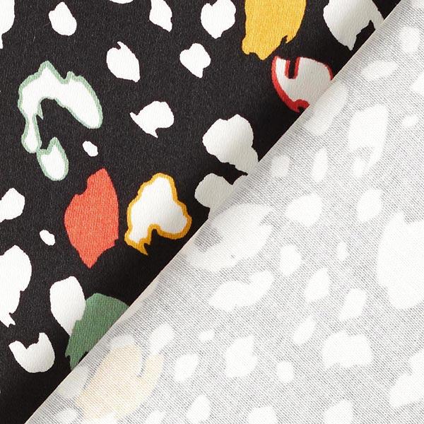 Satin de coton Imprimé Terrazzo – noir