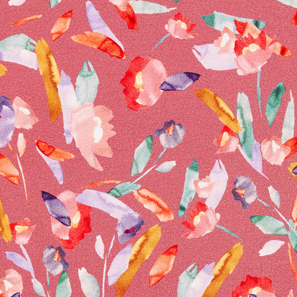 Jersey viscose Je peins des fleurs – homard