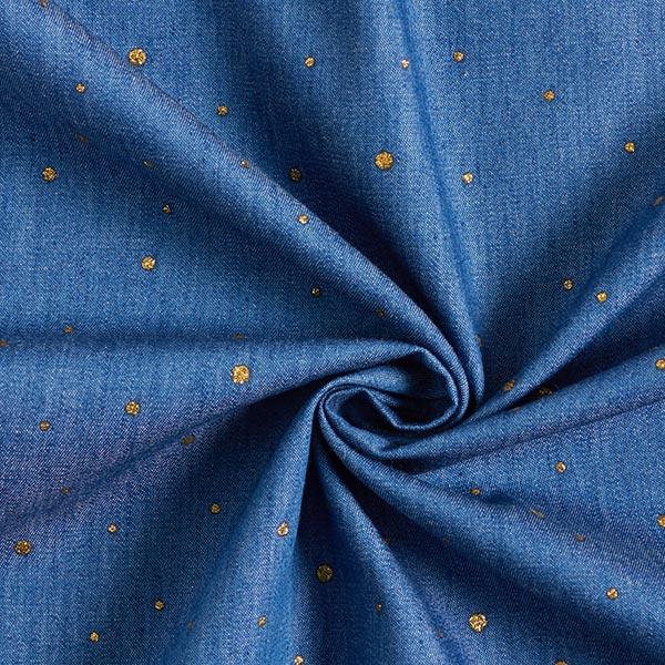 Chambray Points scintillants – bleu jean/or