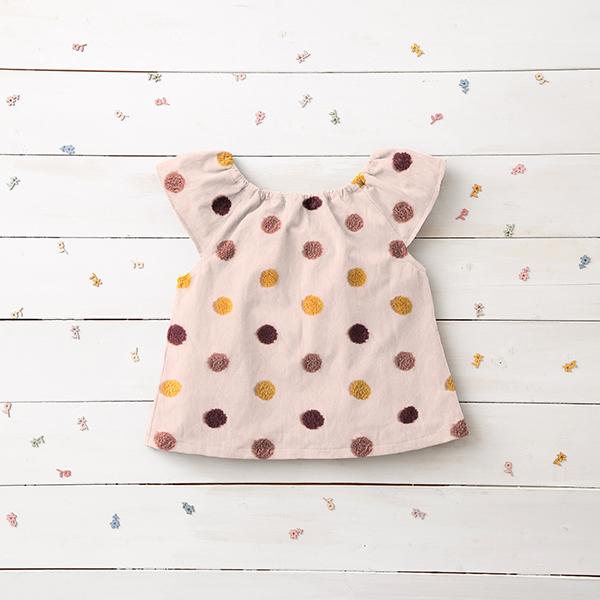 Tissu pour chemisier Coton Points douillets | by Poppy – rosé