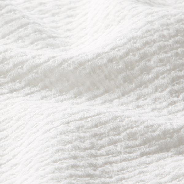 Tissu en coton piqué crêpe – blanc