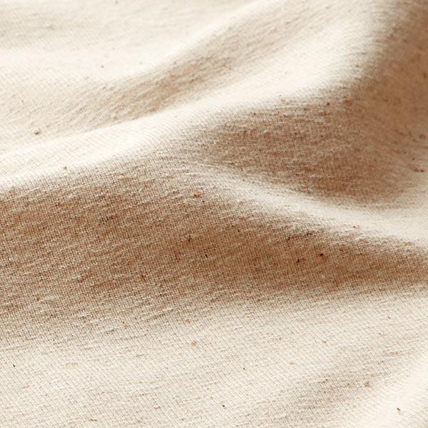French Terry mélange coton lin uni – nature
