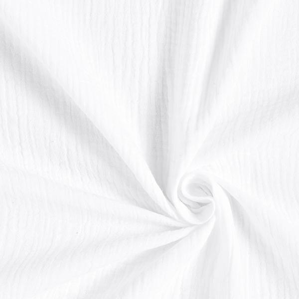 Mousseline Bordure joliment brodée   by Poppy – blanc