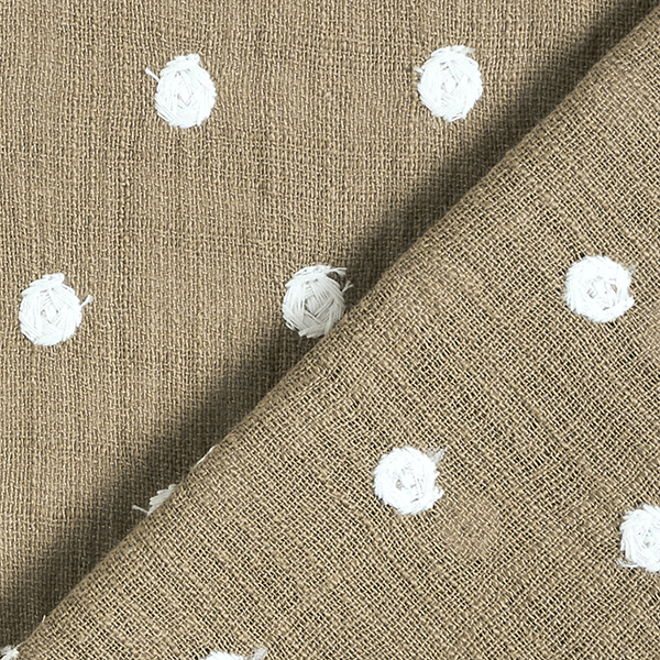 Fil coton slub Points brodés | by Poppy – marron clair
