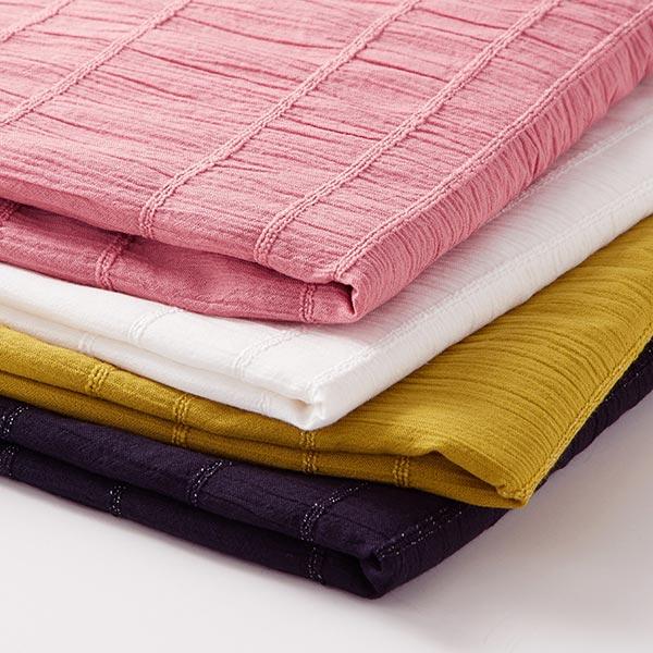 Tissu en coton Seersucker – blanc
