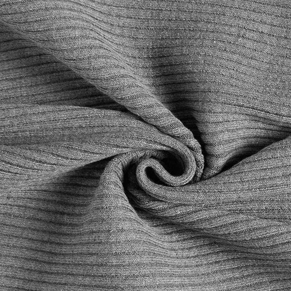 Maille côtelée grossière tubulaire – gris
