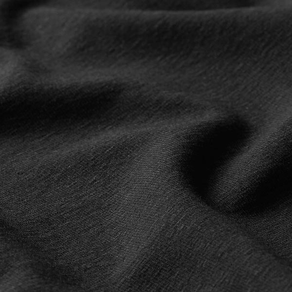 Jersey coton Medium Uni – noir