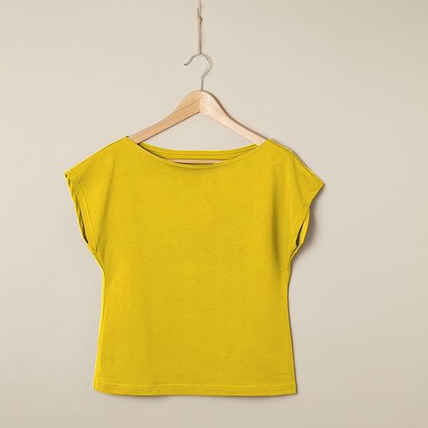 Jersey coton Medium Uni – jaune soleil