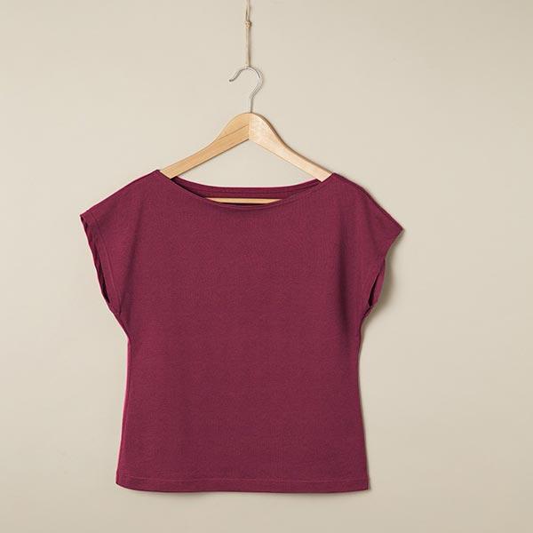 Jersey coton Medium Uni – rouge bordeaux
