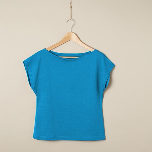 Jersey coton Medium Uni – bleu turquoise