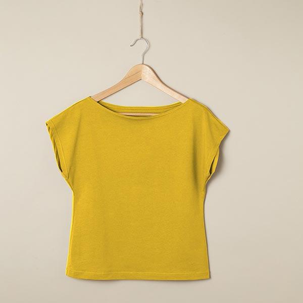 Jersey coton Medium Uni – moutarde