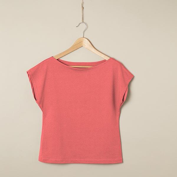 Jersey coton Medium Uni – corail