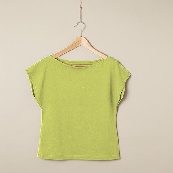 Jersey coton Medium Uni – vert clair